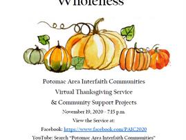 Interfaith Thanksgiving Service Do. 19. November Wir sind dabei!