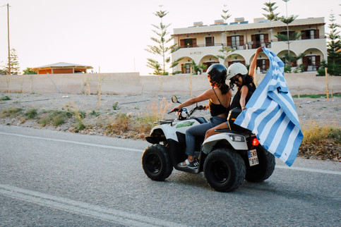 ATVs in Santorini