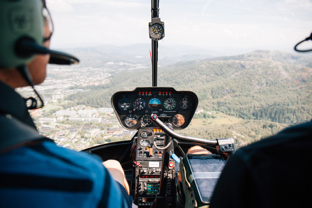 Helicopter Tour atop Bergen, Norway