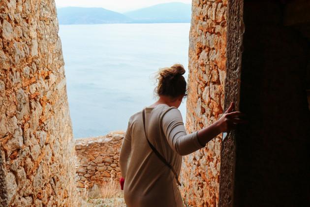 Maxine exploring the Palamidi Fortress