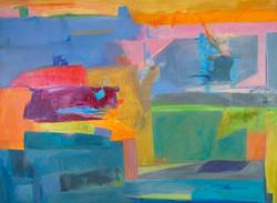 Moodscape Revisted I, 36X48, canvas by Deborah Brisker Burk