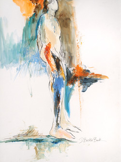 Malescape I-Changes w_blues&browns 23X18 mixed media on paper (2)