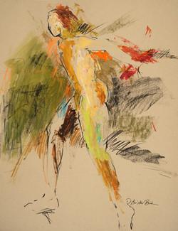 Figurescape VII Framed Male Figure 32X26