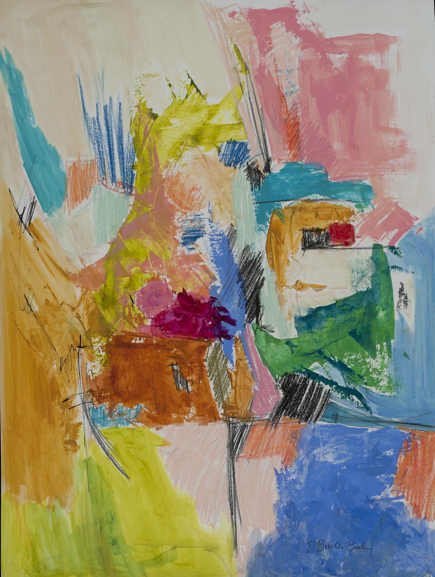 Extensions XIV,with brights, 20X26 by Deborah  Brisker Burk