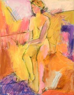 Tonal Opus I 14X11 mixed media on canvas by Deborah Brisker Burk