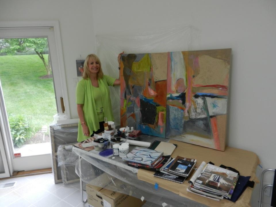 Debby Brisker Burk in studio 6_8_2013