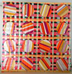 Harborton Sunset Collection 7.5x7.5 30mm paint peels on gessoed mas