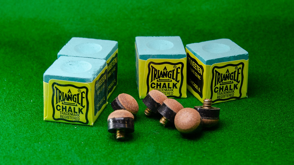 Chalk and Screw on Cue Tips Set