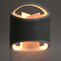 Modernist Butterfly Lamp Detail