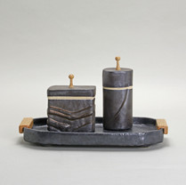 Noir Tray and Canisters