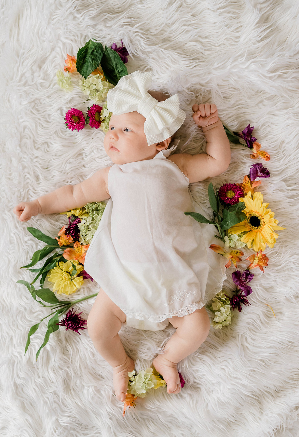 Floral baby portraits