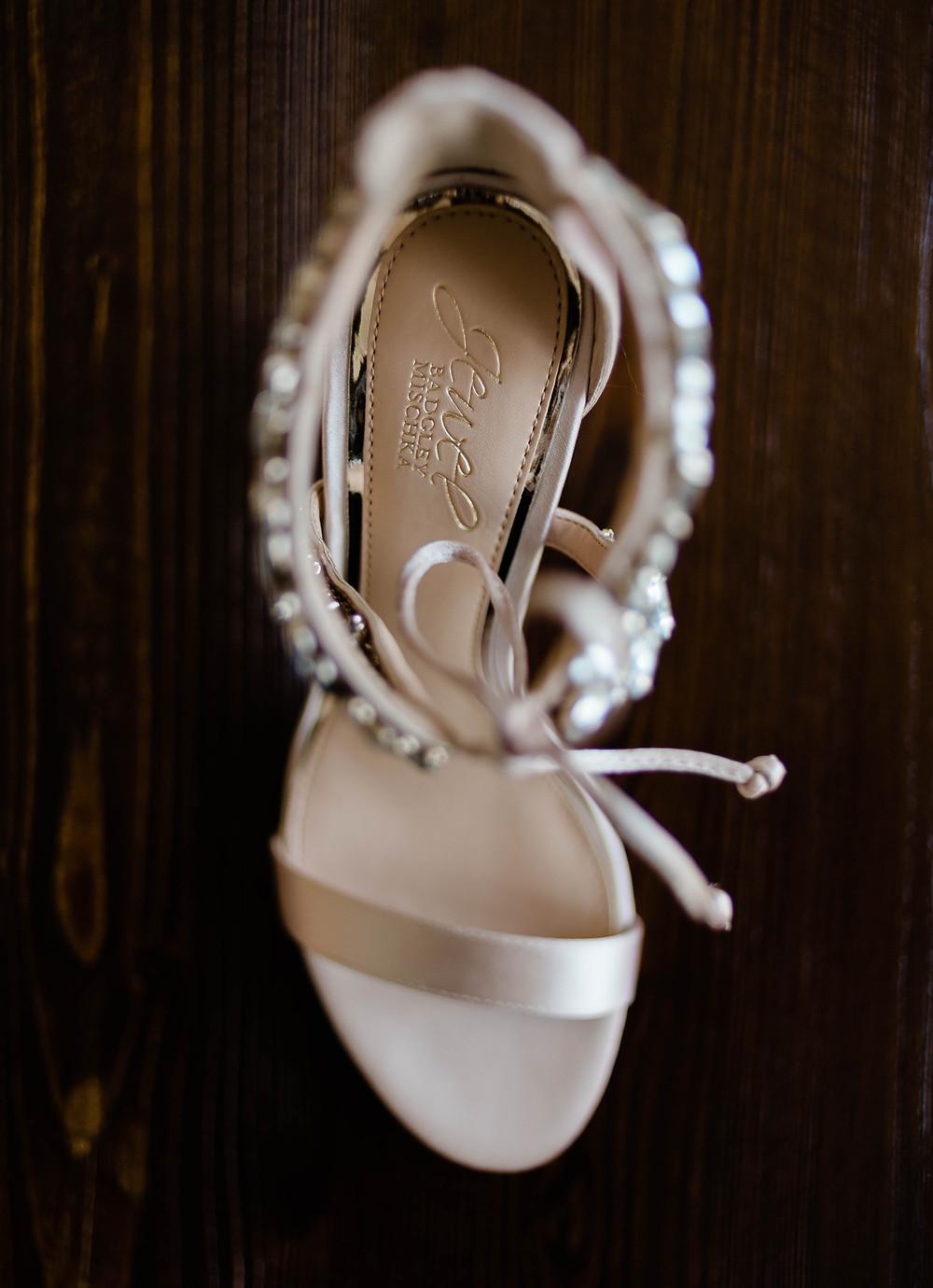 The bride's heels