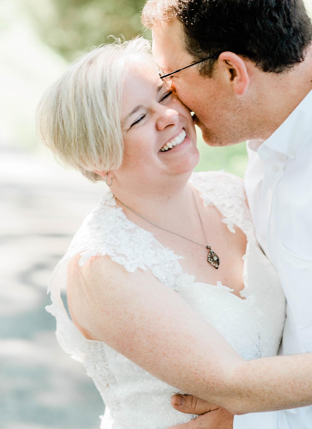 Sweet kisses   Wedding portrait
