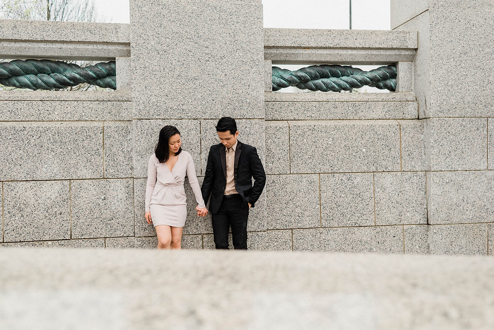 Private moments shared with one another- engagement photos.