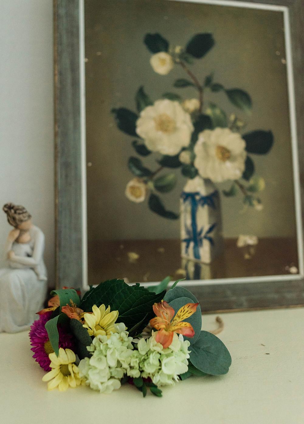 Floral crown for newborn portraits.