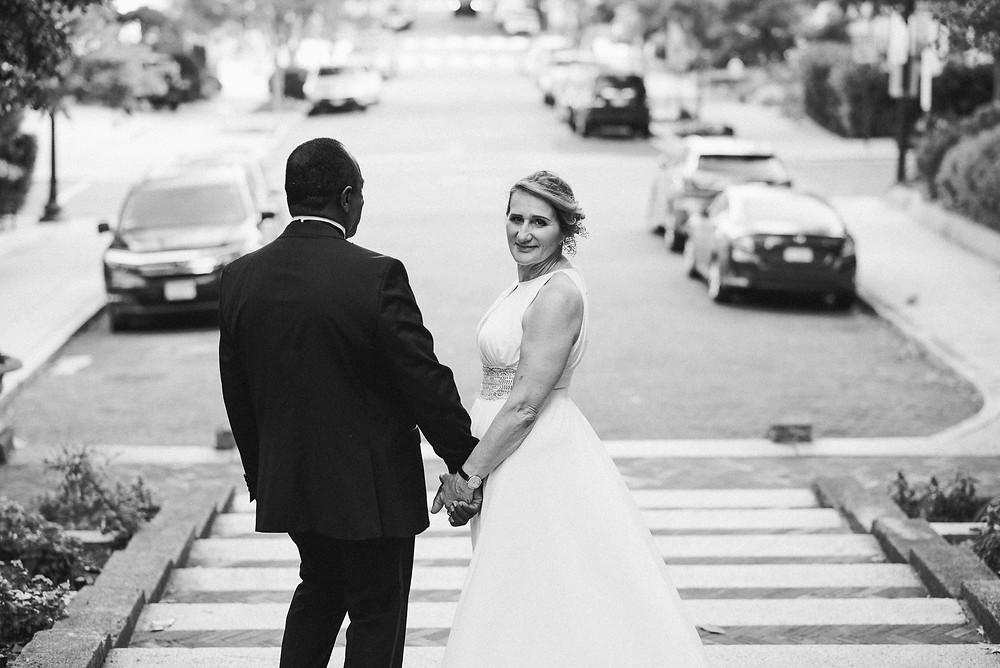 looking back   wedding portraits