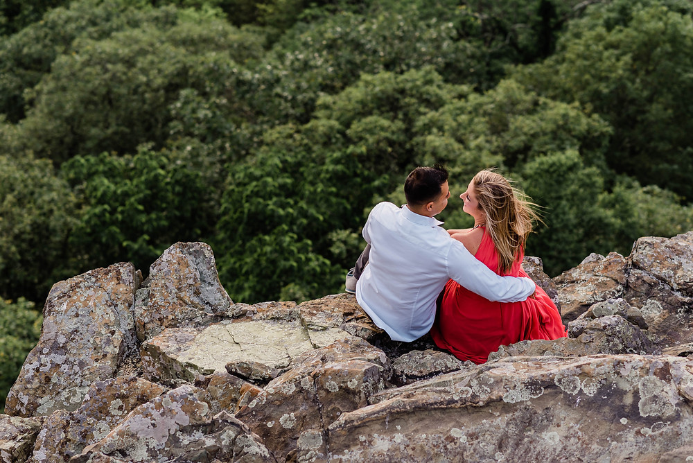 The couple taking in the breathtaking views.