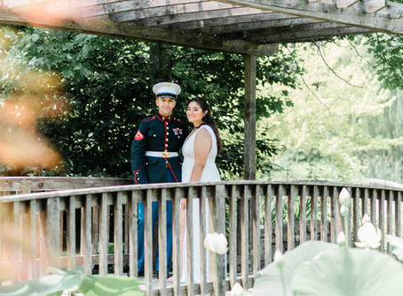An Intimate Summer Wedding at Meadowlark Botanical Gardens, Vienna, Virginia
