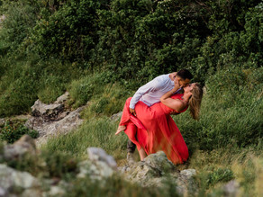 Epic Skyline Drive Engagement Portrait Session | Crescent Rock Overlook