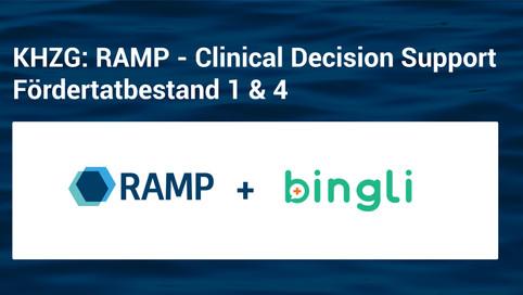 KHZG: RAMP - Clinical Decision Support - Fördertatbestand 1 & 4   Kooperation mit Bingli
