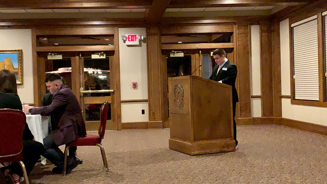 President Travis Ware speaks at founders day