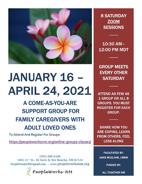 PW FLYER CAREGIVER SUPPORT GROUP - 2021