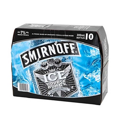 SMIRNOFF BLACK 7% 10PK BTLS