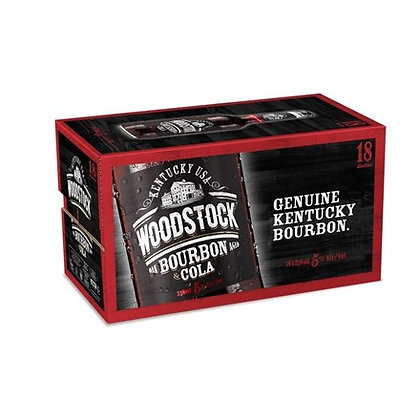 WOODSTOCK 5% 18PK 330 ML BTLS