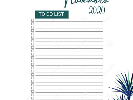To Do – Novembro 2020
