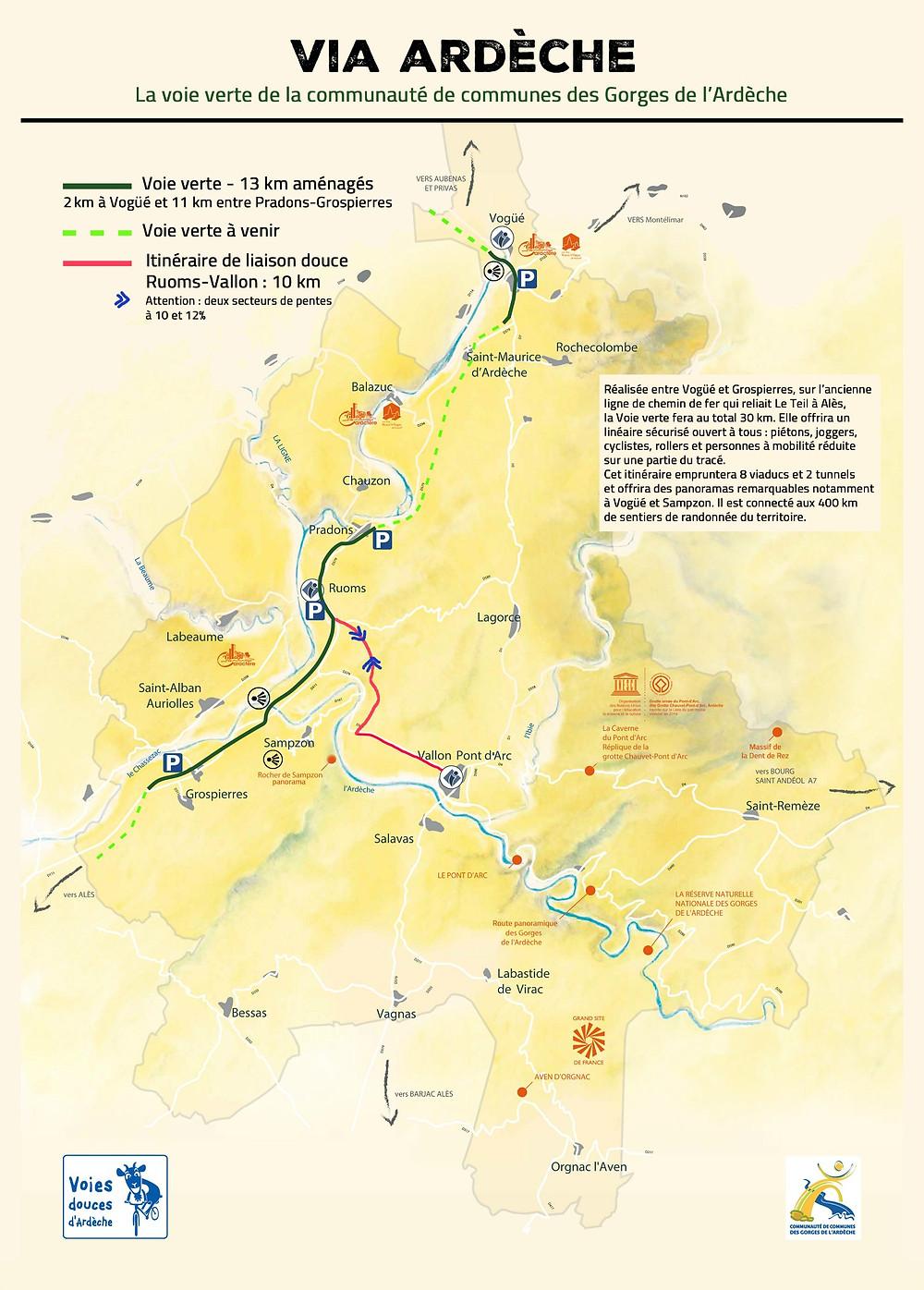 Piste cyclable Ardèche