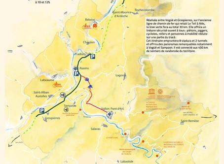 Piste Cyclable Ardèche Voie Verte entre Grospierres et Vogüé