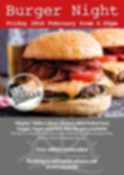 Burger Night  28th Feb 2020 A4 poster.jp