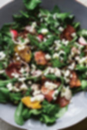 Watercress Salad with blood oranges & popped wild rice