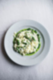 Asparagus Risotto with Sorrel & Wild Garlic
