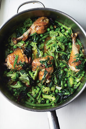 Chicken with Early Summer Vegetables