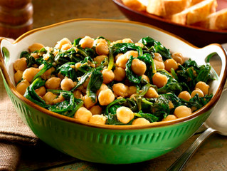 Saint Lucifer Spinach and Chickpea Saute
