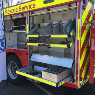 Emergency Vehicle Sliding Drawers