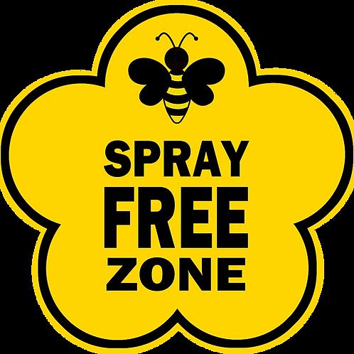 Spray Free Zone Garden Sign