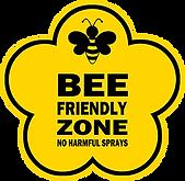 Bee freiendly zone no harmful spray imag