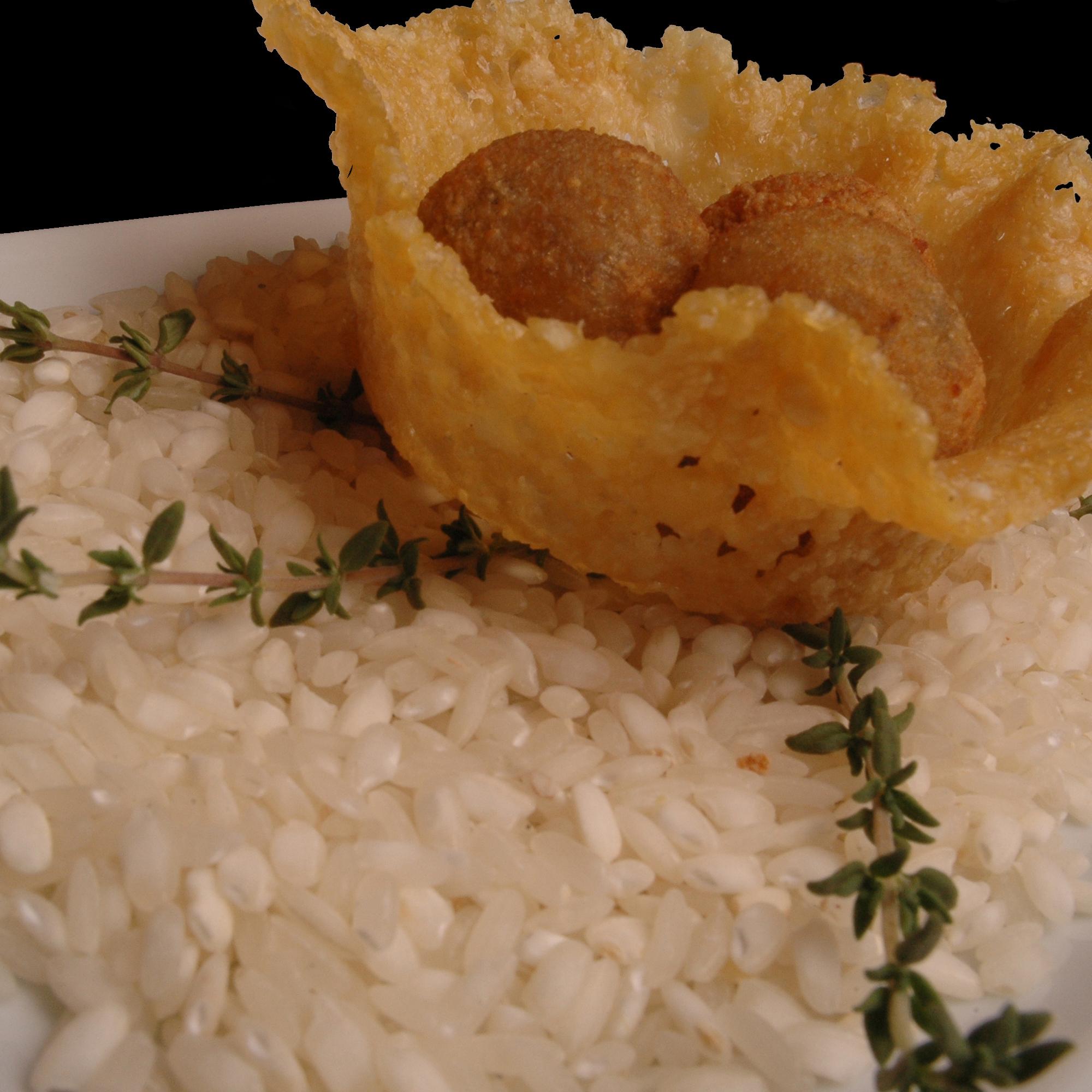 Risotto frit aux champignons