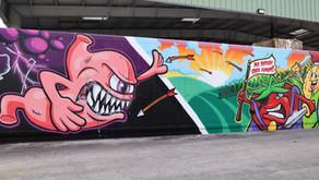 The War Versus Hunger Mural at Farm Share