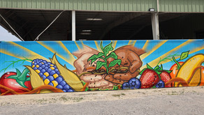 Working Heroes Mural at Farm Share