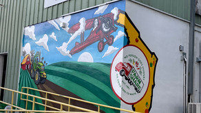 Founder Flyby Mural at Farm Share