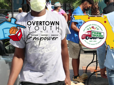 Tyler Herro supports Overtown with the OYC and Farm Share