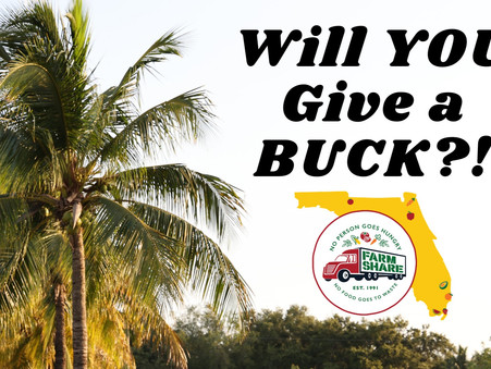 Who will give a BUCK...about Food Insecurity??!!