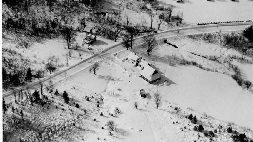 Intervale  -   Rt 16 Crystal Hills Lodge Area - former Charles Farm - Today's Rt 16-A, the bypass had not been built yet.