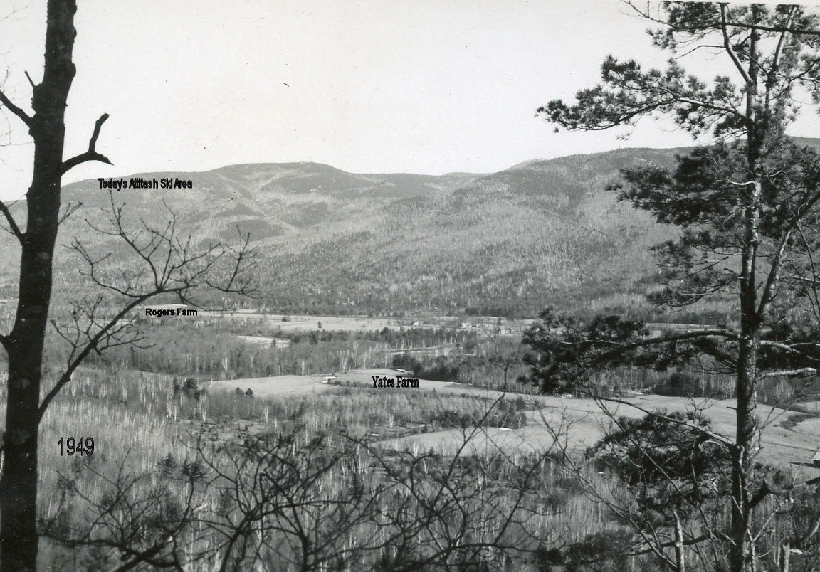 Village Area - Yates Farm - photo dated 1949