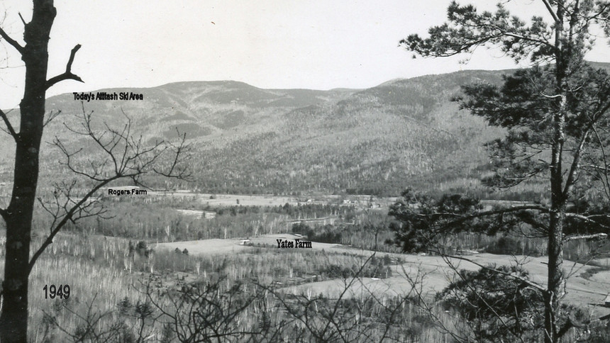 Village Area - Yates Farm - photo dated 1949