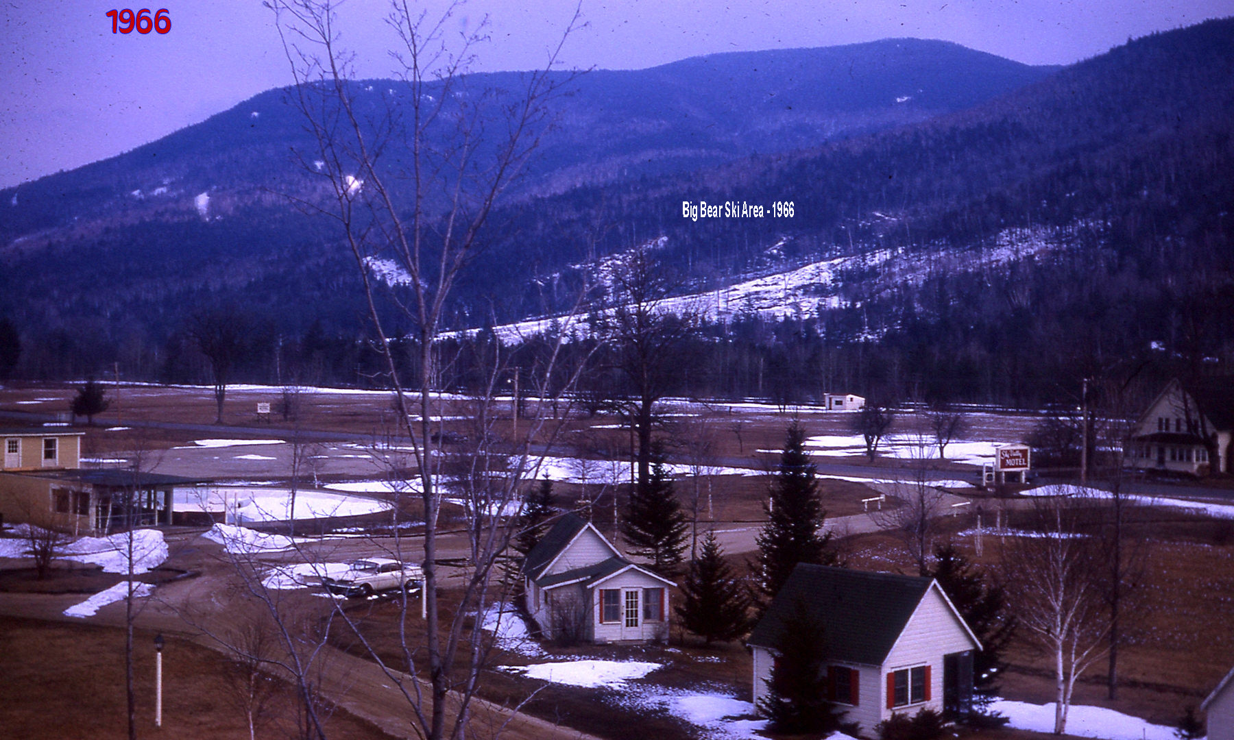 Village Area - 1966 Big Bear Ski Clearing - Gene Chandler house far right side