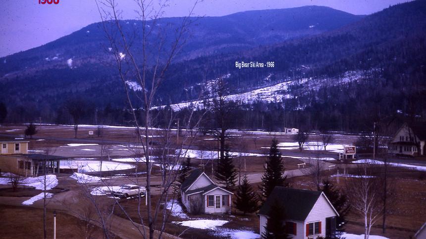 Village Area - 1966 Big Bear Ski Clearing - Gene Chandler house far right side